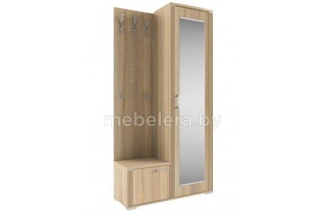Шкаф с зеркалом и вешалкой Остин