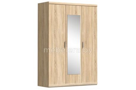 Шкаф трехдверный Дюна 3D с зеркалом