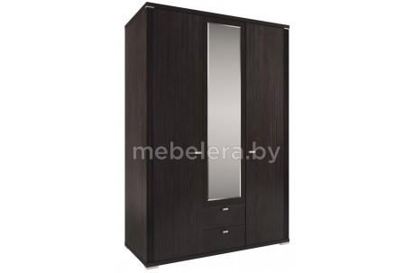 Шкаф Монте 3D2S трехдверный с зеркалом