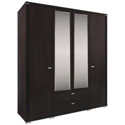 Шкаф Монте четырехдверный с зеркалом