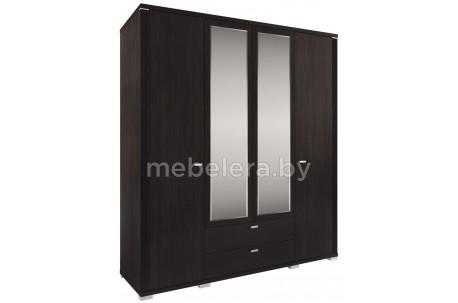 Шкаф Монте 4D2S четырехдверный с зеркалом