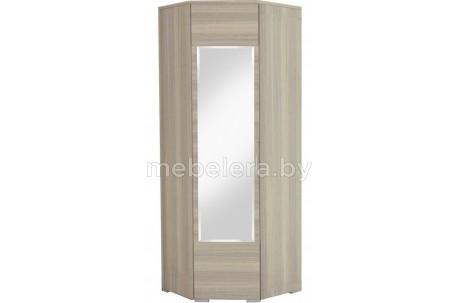 Шкаф угловой Лайт с полками и зеркалом
