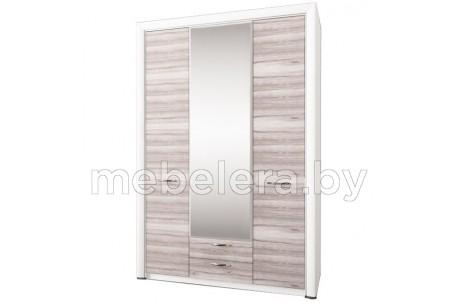 Шкаф трехдверный Оливия с зеркалом