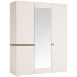 Шкаф трехдверный Линате с зеркалом