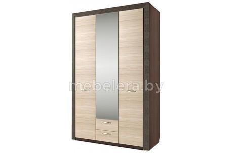 Шкаф трехдверный Денвер с зеркалом