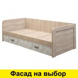 Кровать Дизель односпальная 90 со спинкой