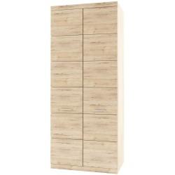 Шкаф двухдверный комбинированный Оскар глубокий