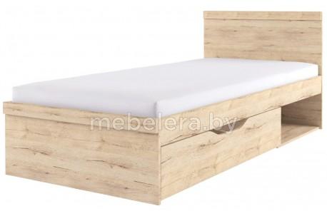 Кровать Оскар односпальная 90 с ящиком
