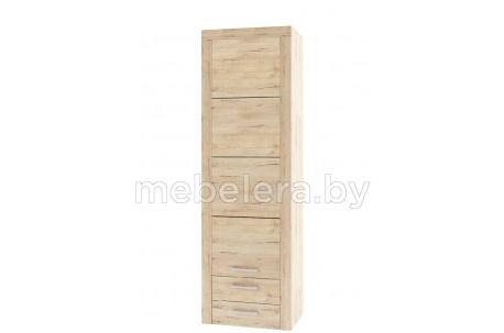 Шкаф однодверный Оскар 1D2SB с полками