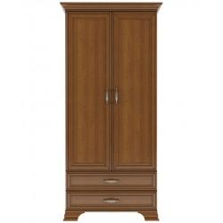 Шкаф двухдверный комбинированный Тиффани каштан