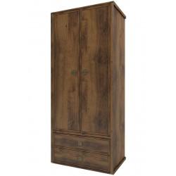 Шкаф двухдверный комбинированный Магеллан дуб