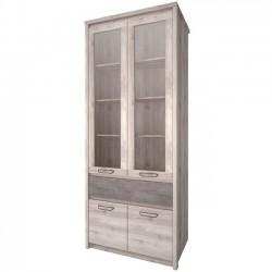 Шкаф-витрина Джаз 2V2D1S