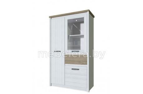 Шкаф-витрина Provence 1V2D1S